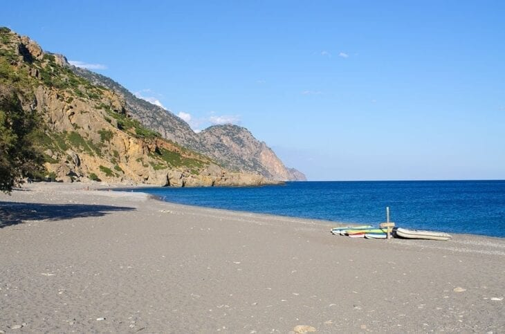 Sougia Beach empty
