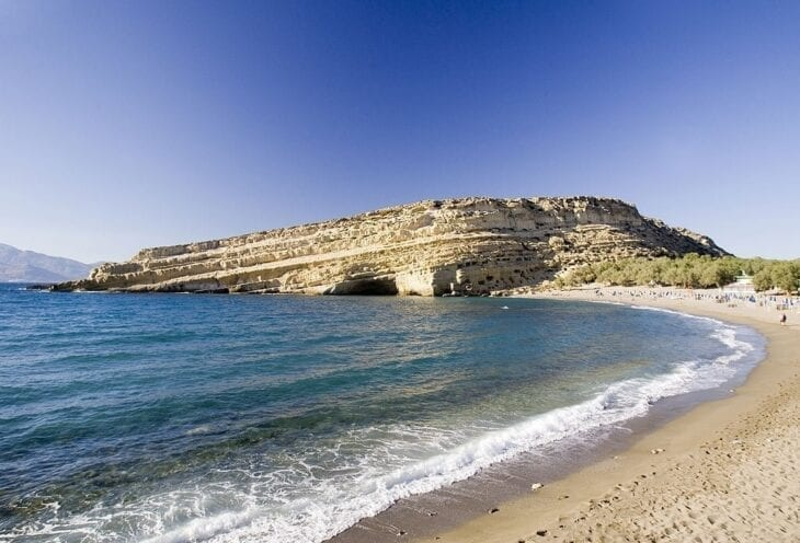 Matala Beach View