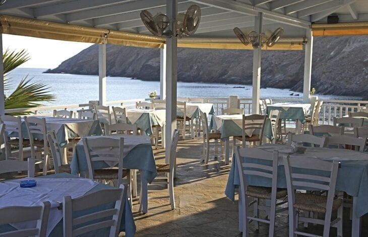 Restaurant with sea view in Panormo