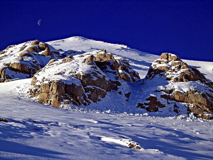 Chania white mountains in Winter