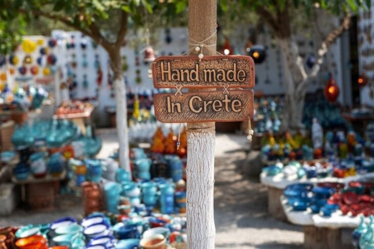 Handmade in Crete Sign