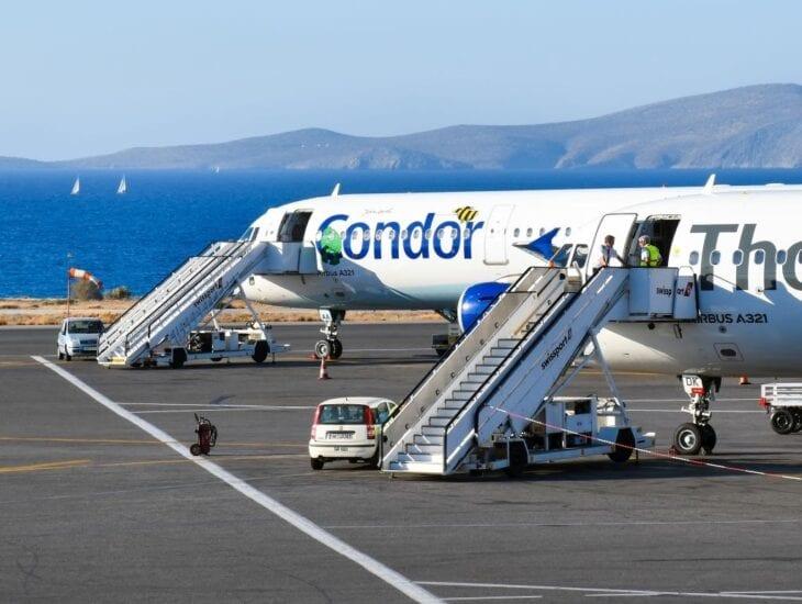 Condor Plane landed at Heraklion Airport