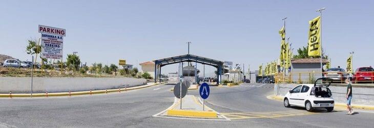 Heraklion Airport Parking Entrance