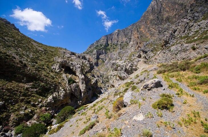 Wąwóz Kourtaliotiko na wyspie Kreta