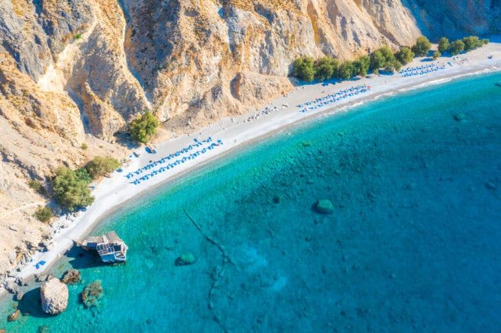 Aerial View of Glyka Nera Beach