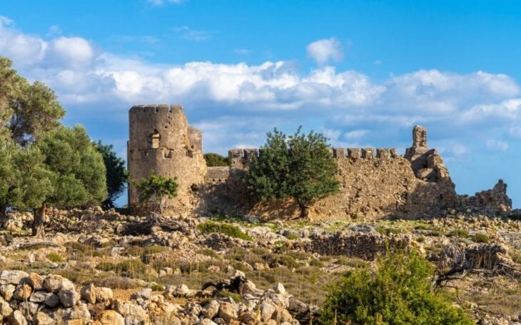 Ancient Anopolis Fortress in Crete
