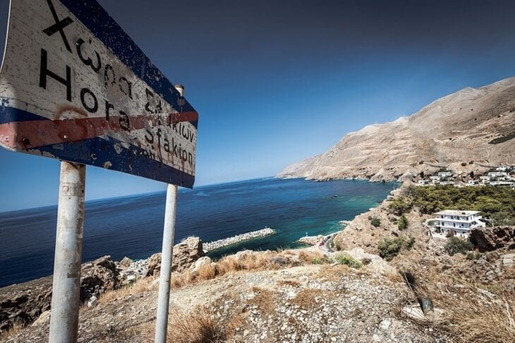 Road sign to Sfakia