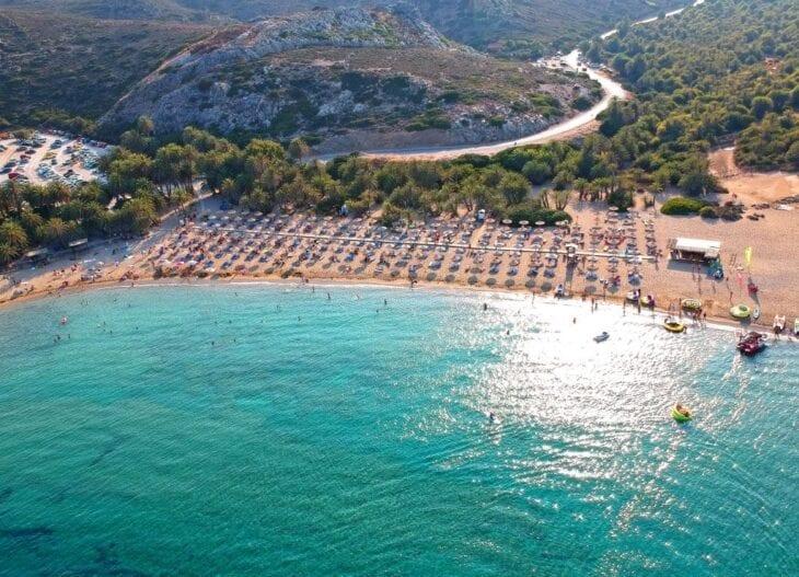Vai Crete - Aerial Shot