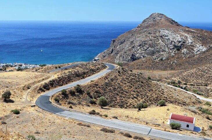 Straße nach Lendas Kreta
