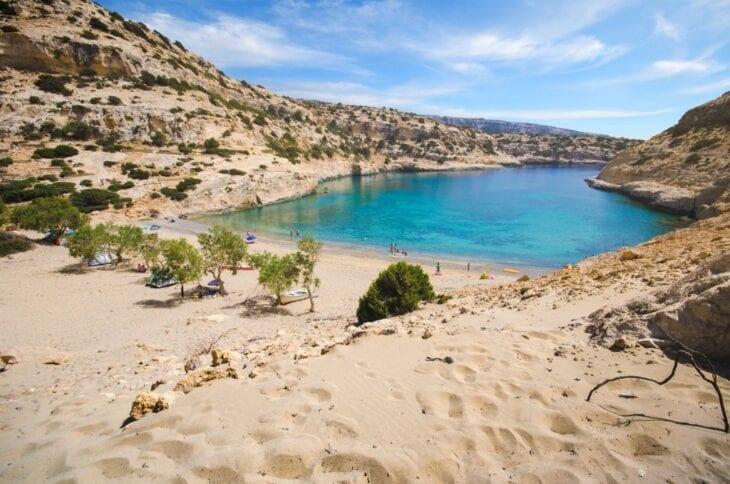 Vathi Beach - sandy beach