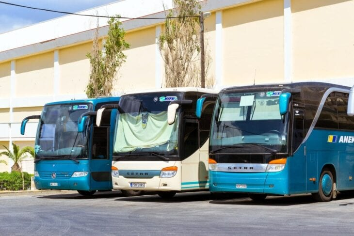 Station de bus à Rethymno