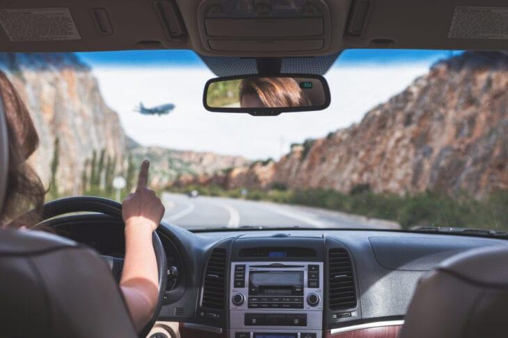 Jazda autostradą na Krecie