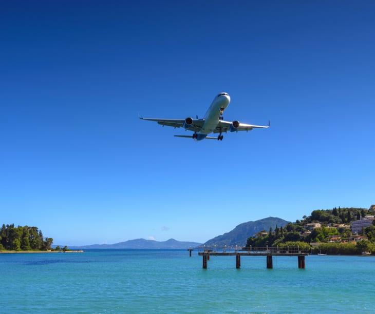 Landung eines griechischen Flugzeugs