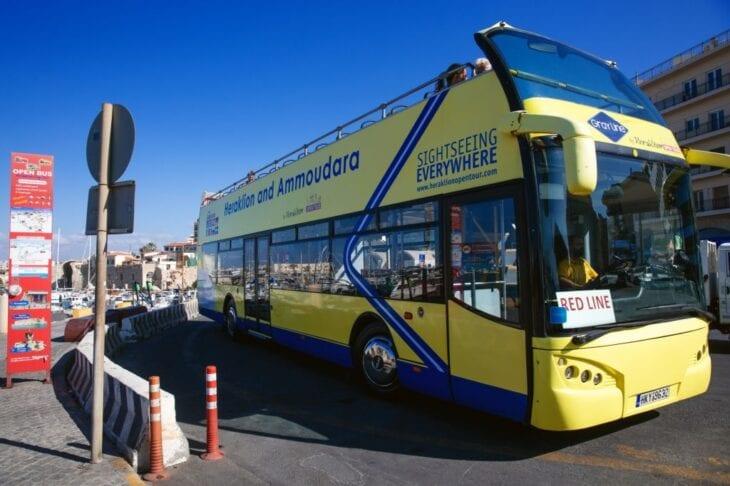 Bus de tour ouvert d'Héraklion