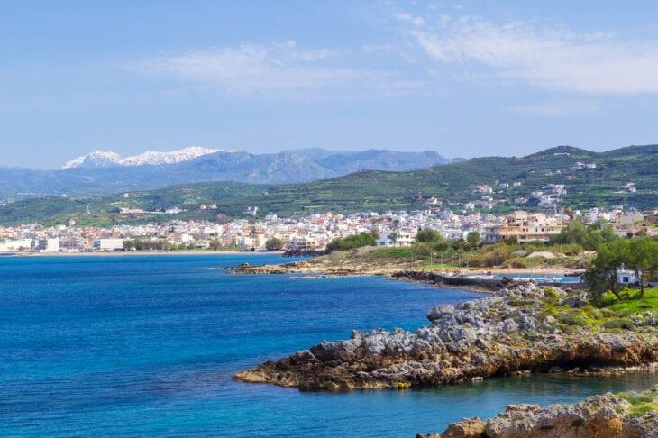 Landscape Kissamos town on Crete