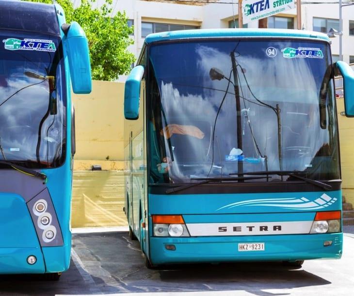 Public Intercity buses in Crete