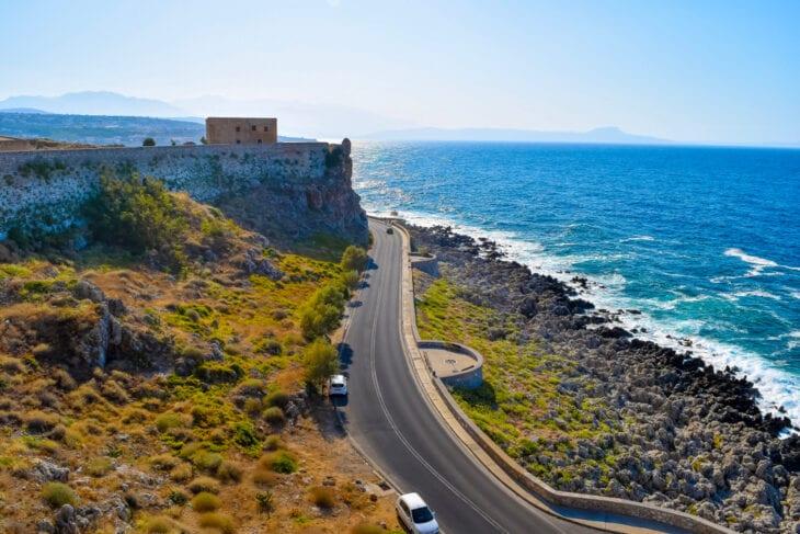 Straße in Rethymno auf Kreta