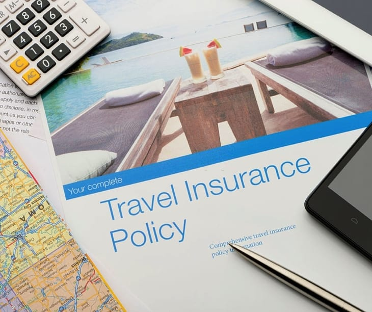 Travel Insurance Paperwork in Car rental