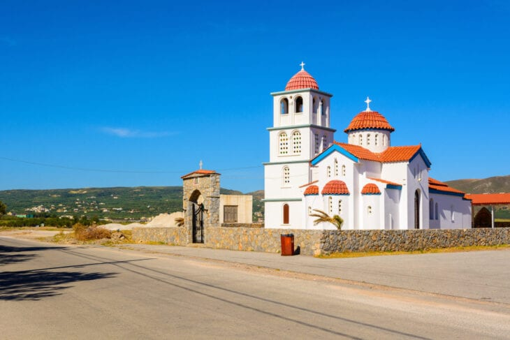 White Church in Kissamos Crete