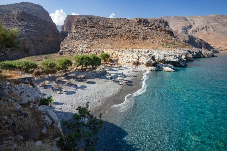 Marmara beach near Aradena Gorge