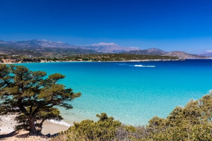 Clear sea and sand at Voulisma beach