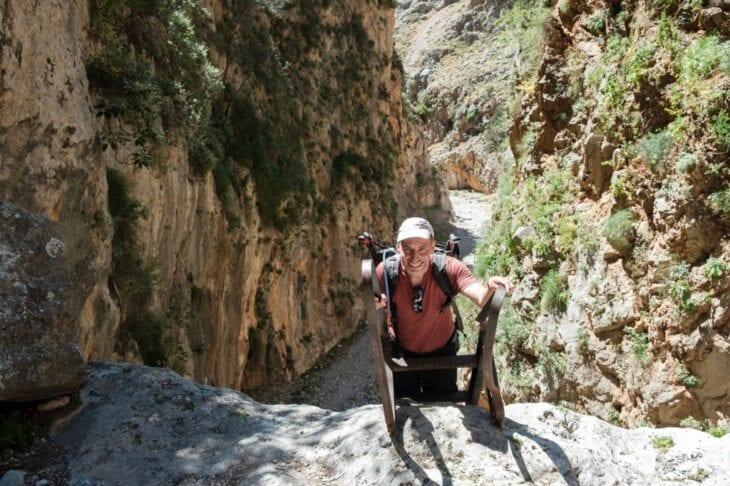 Hiking through Aradena Gorge