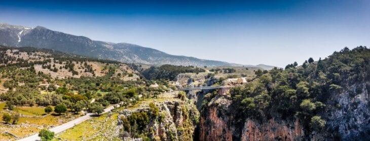 Mountains around Aradena gorge Crete