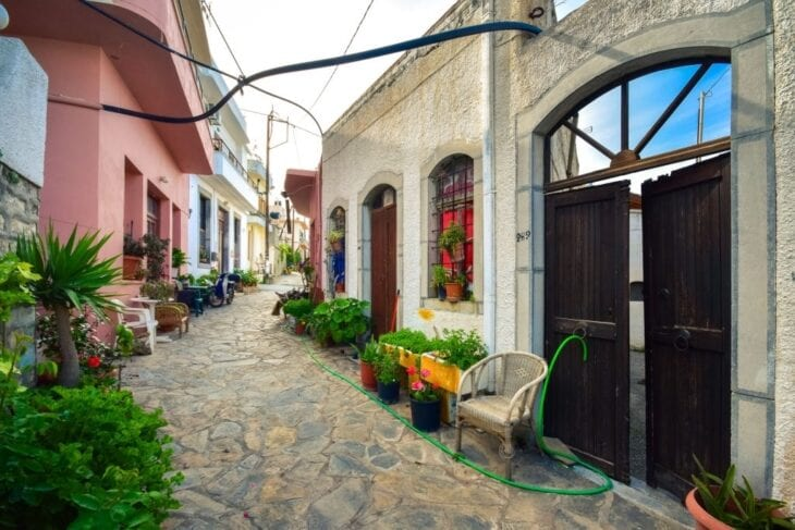 Old Stone houses in Milatos Village