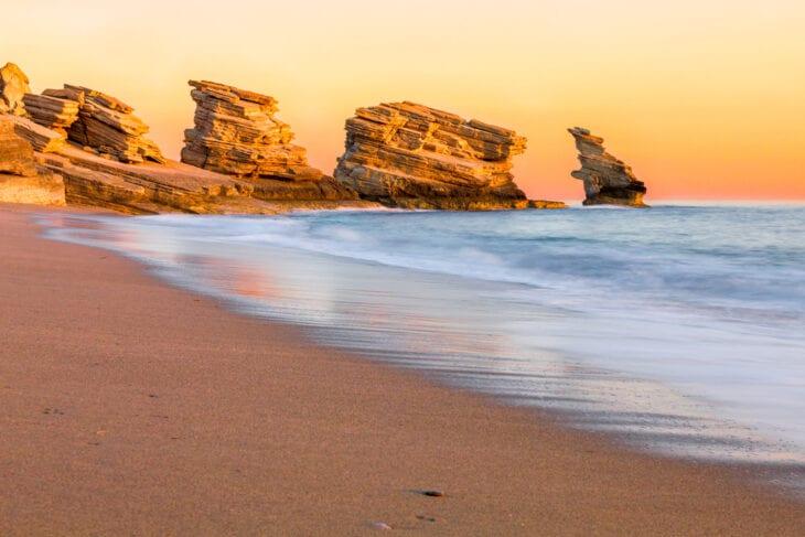 Triopetra beach on sunset