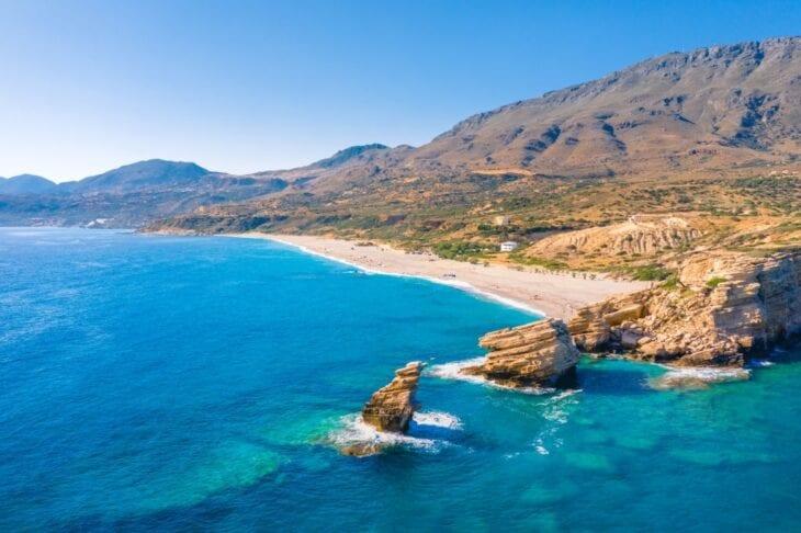 The beach of Triopetra