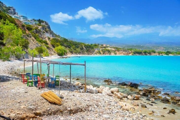 Tropical beach of Voulisma Crete