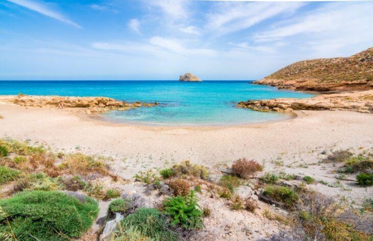 Amazing sandy beach of Xerokampos in Crete