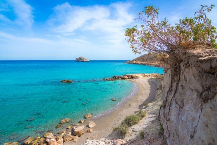 Sandy beach of Xerocampos in Crete Greece