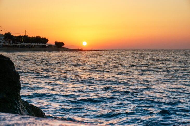 Sunset in Anissaras beach Crete