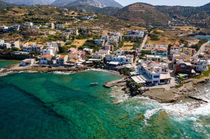 Aerial View of Mochlos Village