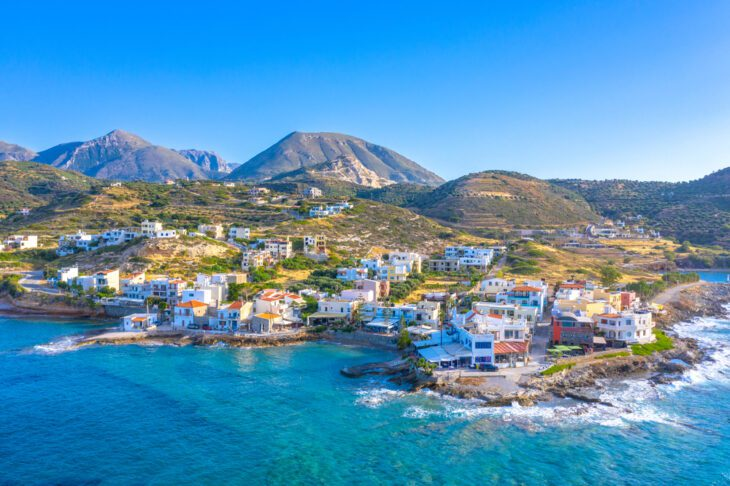 Small traditional fishing village of Mochlos in Crete