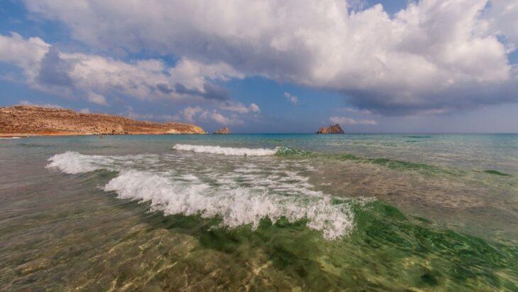 beach in Xerokampos Crete