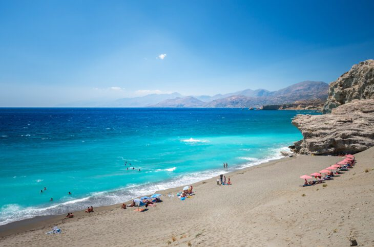 Agios Pavlos beach in Crete Island Greece
