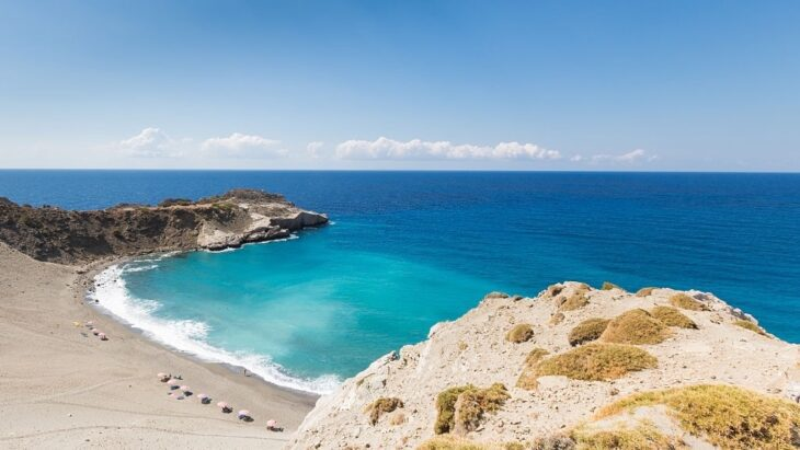 Main beach in Agios Pavlos