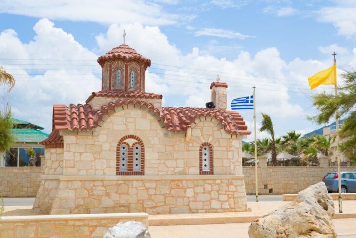 Small typical little Church in Analipsi Crete