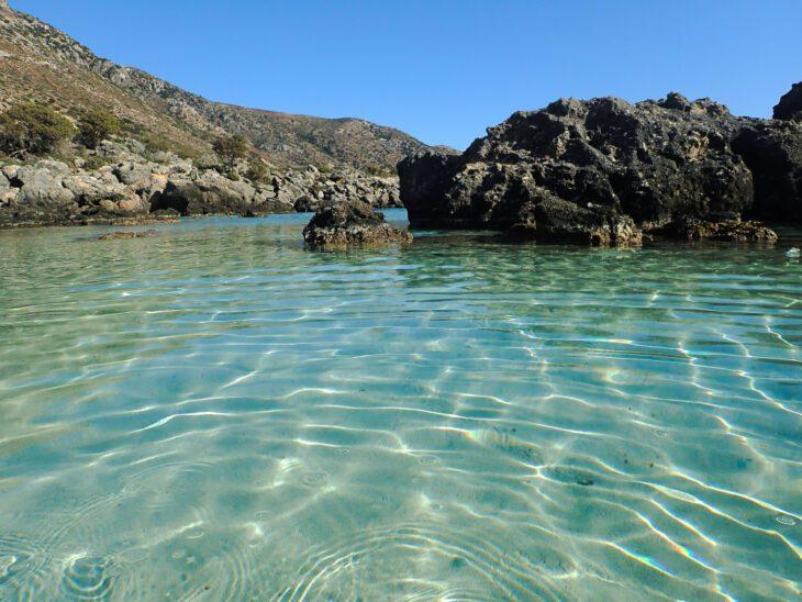 Waters in Kedrodasos Beach Crete