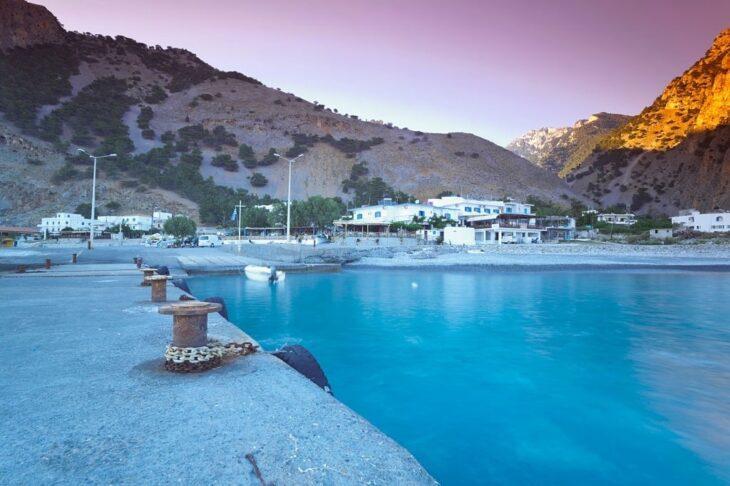 Harbour at Dusk in Agia Roumeli Crete