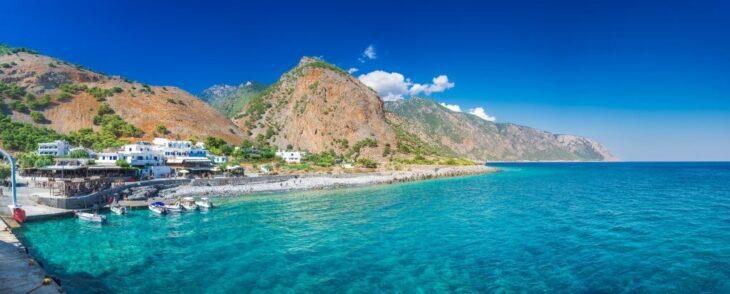 Village of Agia Roumeli Chania Crete