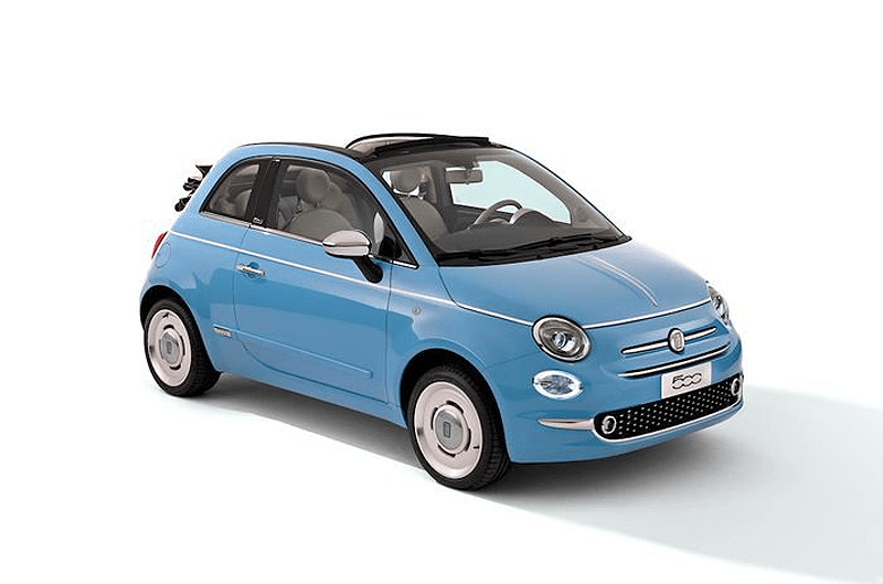 Fiat 500 Cc Group L Cabriolet Rental Center Crete
