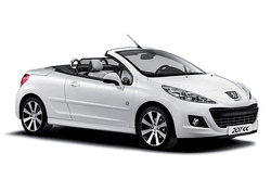 hire a Peugeot 207cc in crete