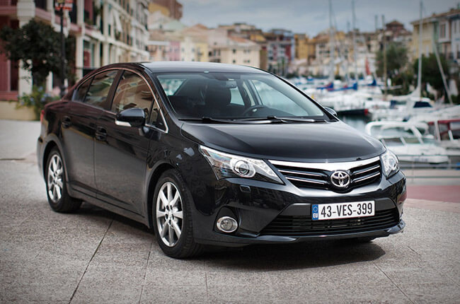 rent a car like Toyota Avenis at Crete Airport