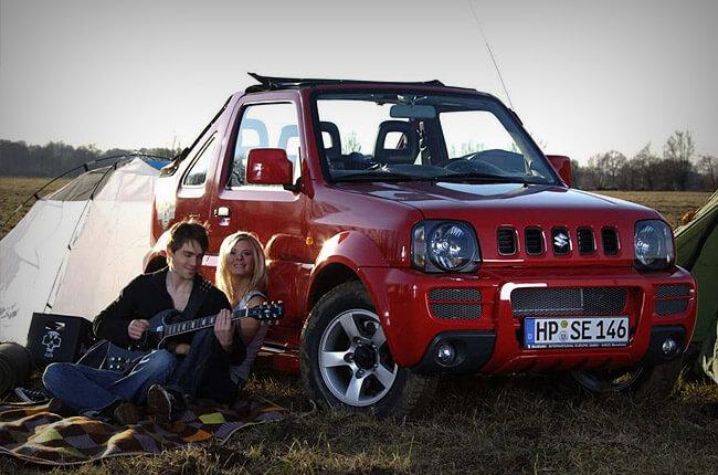 Reserve a Suzuki Jimny rental car in Chersonissos