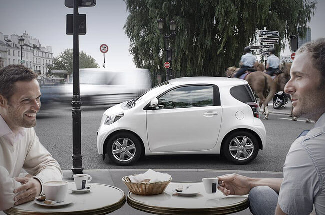 Toyota IQ is a budget solution in hiring a car in Crete
