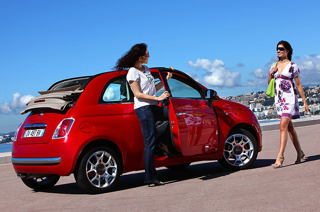 spesso Fiat 500 cc - Group L. Cabriolet - Rental Center Crete BR63
