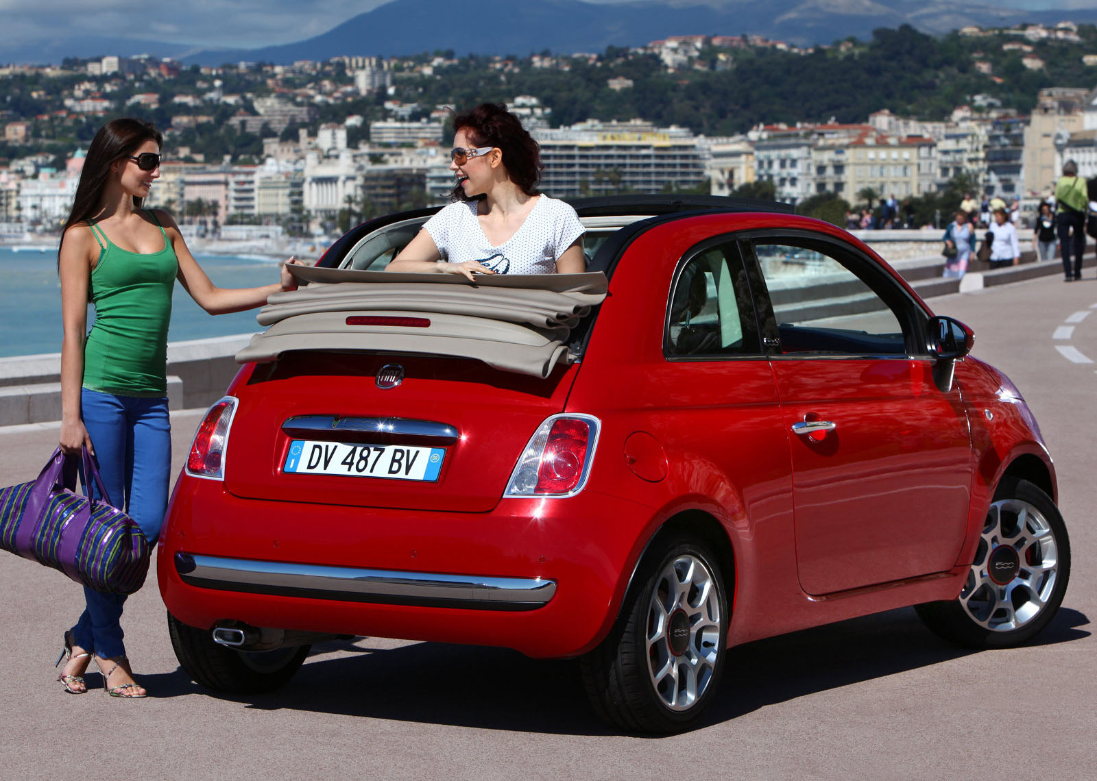 fiat 500 cc group l cabriolet rental center crete. Black Bedroom Furniture Sets. Home Design Ideas